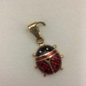 NIB Gold Ladybug Charm